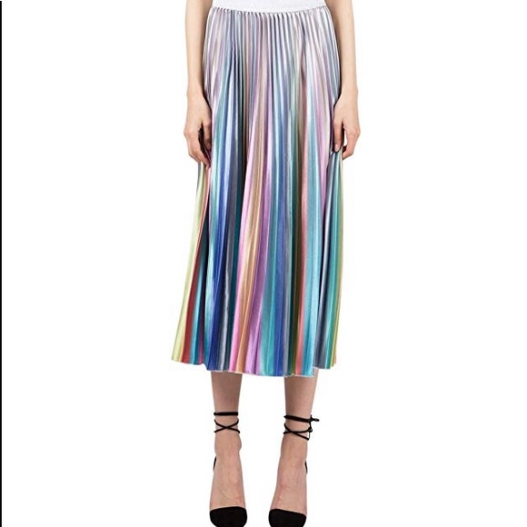 656253c18 Beulah Skirts | Nwt Styleiridescent Pleated Midi Skirt | Poshmark